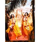 Lord Caitanya and Lord Nityananda Dancing in Ecstasy