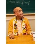 Srila Prabhupada Sitting in School Classroom Preaching