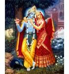 Radha and Krishna (Red Dress) Painting
