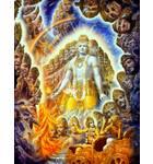 Krishna Reveals Universal Form Painting