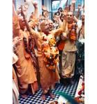 Srila Prabhupada dancing at Bhatktivedanta Manor, London Kirtan