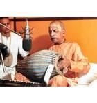 Srila Prabhupada at New Dvaraka, Playing Mrdanga at Studio