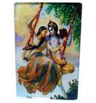 Acrylic Stand -- Radha Krishna on Swing  (large size)