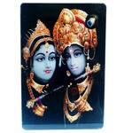 Acrylic Stand -- Radha Krishna with Flute  (large size)
