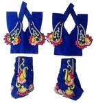 Gaura Nitai Deity Clothes -- Deluxe Flower With Kerry Design