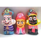 Lord Jagannatha, Baladeva and Lady Subhadra -- Childrens Stuffed Toy