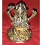 """Lord Ganesh Brass Deity (4"""" high)"""