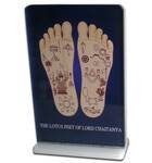 Lotus Feet of Lord Caitanya -- Altar / Table Stand