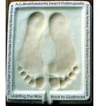 Srila Prabhupada's Lotus Feet Impression Casting