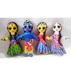 Radha-Krishna with Lalita and Vishakha Dolls -- Childrens Stuffed Toy