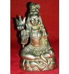 "Lord Shiva Brass Deity (4.5"" high)"