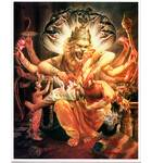 Lord Nrsimhadeva Greeting Cards Pack of 10