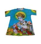 Boys T-shirt: Krishna with Cow -- All-Over-Print