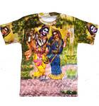 T-Shirt: Radha-Krishna -- All-over print