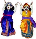"Childrens Stuffed Toy: Sri Sri Gaura Nitai Doll - 10"" Inches"