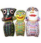 "Childrens Stuffed Toy: Set of 3 Jagannatha - Baladeva - Subudra Dolls (10"")"