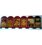 Folding Guru Parampara Display [with Six Goswamis]