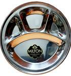 Four Section Thali (Plate) for Prasadam -- Stainless Steel - 12""