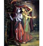 Radha and Krishna in Rain (Greeting Card Pack of 10)