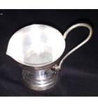 White Metal Single Ghee Lamp